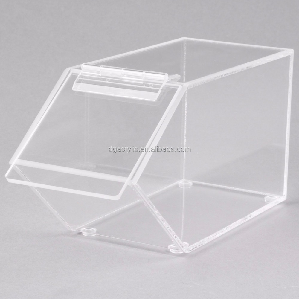 Custom perspex stackable clear acrylic candy bins wholesale
