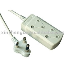 2 Outlets Socket power strip for South African Market