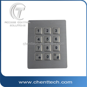IP68 brushed keypad for electronic keypad door lock