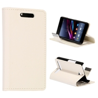 Small Stone Texture with Credit Card Slots Leather Flip Case for Sony E3