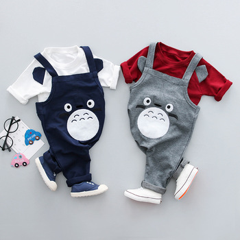 2PCS set cartoon long sleeves bodysuit baby clothes cotton baby bodysuits