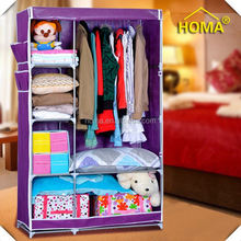 HOMA Foldable Simple double canvas wardrobe