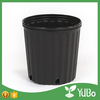 Custom Design Outdoor Plastic Round Big Flower Pot For Garden