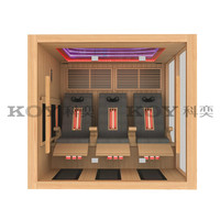 3Persons far infrared sauna with massage chairs hot sale new sauna 23A-L8