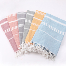 New style Colorful Thin Travel Camping Bath Beach Gym Pool Multi-role 180gsm Natural Cotton Turkish Towel