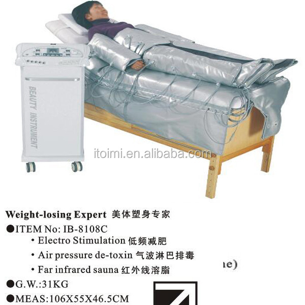 Beauty center equipment Electro Stimulation Lymphatic Massage Slimming suit