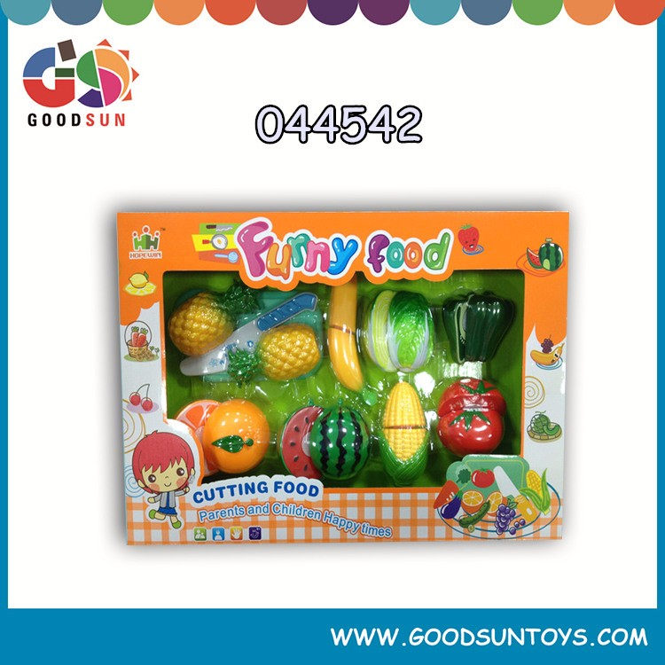 Cutting vegetables and fruits toys, mini kitchen food play set