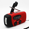 Solar Powered Hand Crank AM/FM Dynamo Radio with LED Flashlight and USB Phone charger