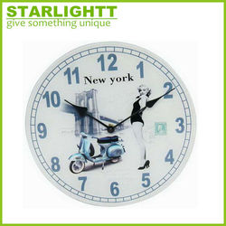 Wholesale Glass Wall Clock With Personalized Design