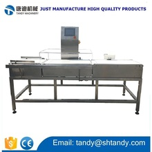 Production line conveyor sorting weight check machine