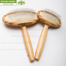 2016 pet products professional factory top quality hot sales Eco-Friendly bamboo dog hair removal brush