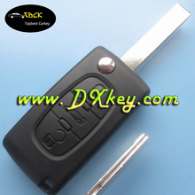 Folding car key for C-itroen 407 3 buttons car smart key with trunk button ID46 chip 433Mhz CE0536 ASK AFTER MARKET car key