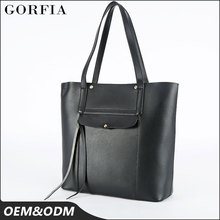 Factory Wholesale tote fashion lady hand bag 100% genuine leather woman italy branded handbag