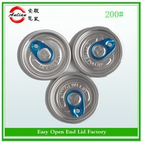 Free sample 209/300/307/401 open instruction aluminum can easy open end cap