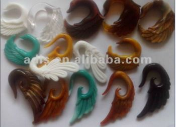 Acrylic wing ear spiral body jewelry,ear taper