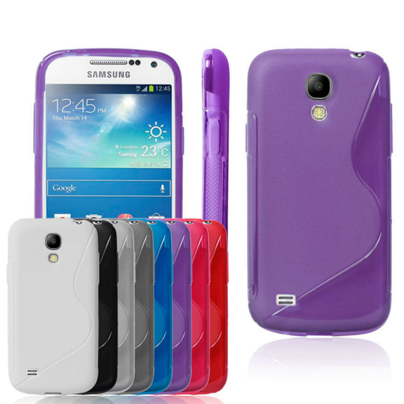 "New Fashion ""S"" Shape TPU Protection Case Cover For Samsung Galaxy S4 Mini, Stream line & Skidproof design"