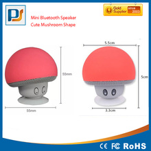 Mini Cute Mushroom Style with Suction Cup, Built-in Li-Ion Battery, Bluetooth Wireless Stereo speaker with Microphone