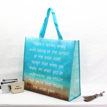 High quality SGS met 110gsm laminated non woven bag full printing customized shopping tote bag
