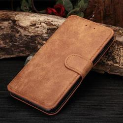 dull polish vintage style case leather credit card holder case for iphone 6 plus/6s plus