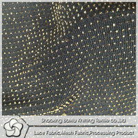 Gold Thread Knitting Jacquard Fabric For Ladies Fashion Clothes