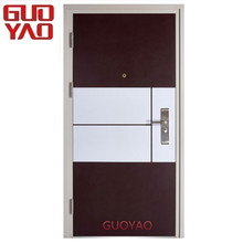New models apartment main entrance entry exterior security Steel Wood Armour Doors kerala front door designs