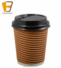 12oz double wall paper cups, disposable paper cups, hot drink coffee paper cups