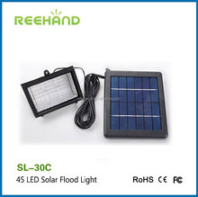 Outdoor high power led solar spot light solar flood light with solar panel 45 LED bulbs light
