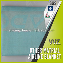 Jacquard woven airline small size aircraft blanket gift blanket in beautifulTurkish blue color