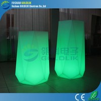 LED rechargeable flowerpot lamp/led shining flower pot with Light Control and Solar Panel Powered