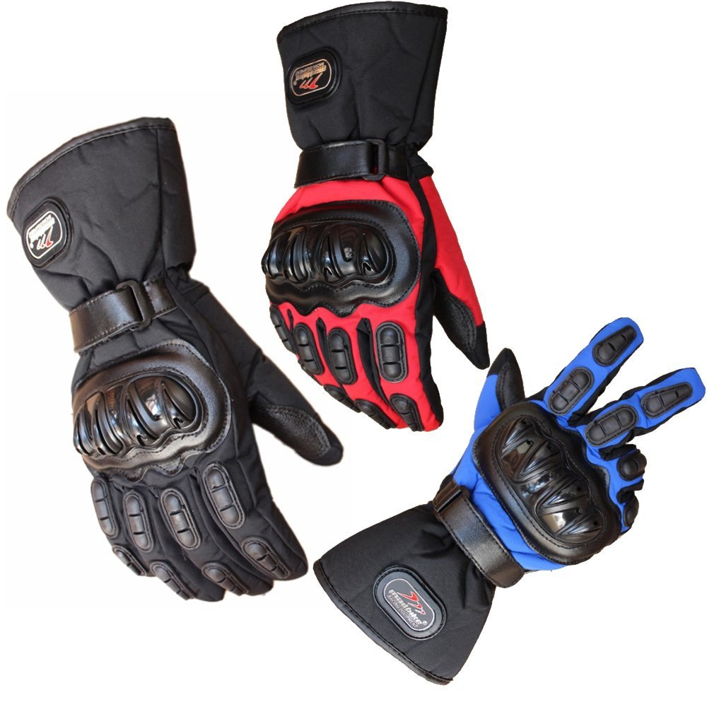 Motorcycle Gloves Waterproof Warm Motocross Racing Motos Motorbike Cycling Glove Protective Antiskid Polyester Racing Motorcycle