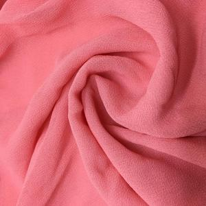 In stock polyester chiffon fabric