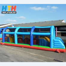 Sport theme game inflatable wipeout obstacle course for sale