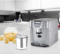 ICE Maker With Cooling Water Dispenser With Cool Water And Auto Filling Water Pipe