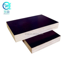 Low Price For 1220*2440*25mm E1 Melamine WBP Black Brown Film Faced Plywood Poplar Core Construction Tego China Manufacturers