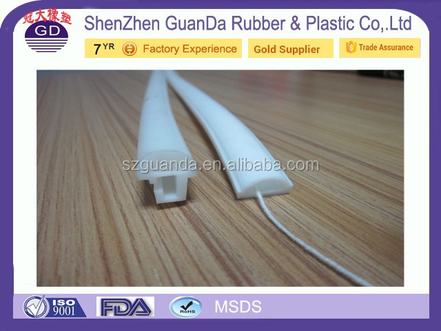 Direct factory OEM RED BLUE WHITE CLEAR t i d shaped rubber seal
