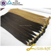 Russian hair blonde color Virgin Remy hair keratin tipped hair