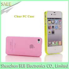 0.5mm thick cell phone case for iphone4 as perfect promotion gift