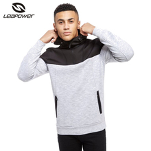 Custom high quality outside two colors zipper winter unisex slim fit blank hoodies