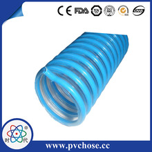 Flexible with low weight Corrugated pvc hose/pvc wire reinforced fuel resistant rubber and pvc hose