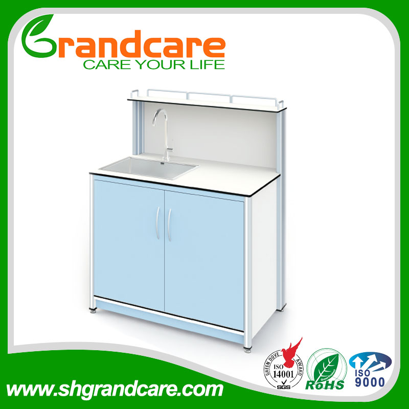 European Design Dental Hand Wash Basin Cabinet With Board To Protect The Wall