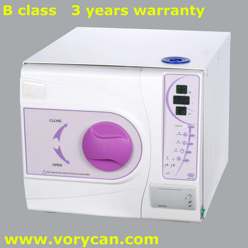 23Liters with printer Medical Dental autoclave sterilization Europe B class with CE and ISO13485 3 years warranty