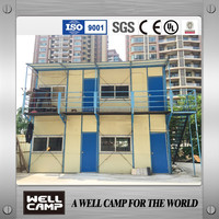 Economic design temporary small prefab house K type for worker office building