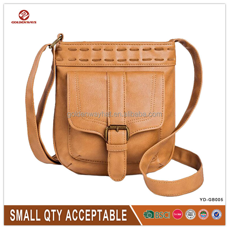 Simple Casual Leather Crossbody Bag Good Quality