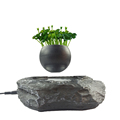 Levitating Japanese artificial bonsai trees with bonsai seeds