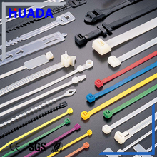 Huada popular selling self locking UV black plastic nylon cable tie