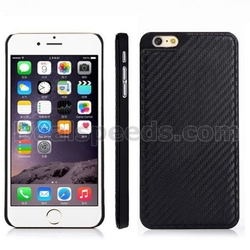 Carbon Fiber Case for iPhone 6 Pattern Leather Coated Hard Case for iPhone 6 4.7 inch(Black)