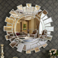 PU580 Silver Leaf Modern Design Home Decorative Mirror