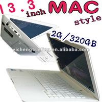 13.3 inch low price Laptop (Intel Atom D425 1.8GHZ 2G/320GB built in camera, WIFI)
