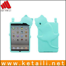 For 3D silicone mini ipad case with cat shape design, 3D feeling