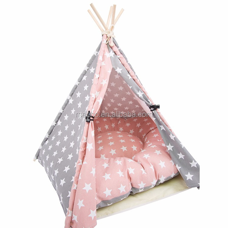 Wholesale Oem Cotton Canvas Teepee Tent For Dog